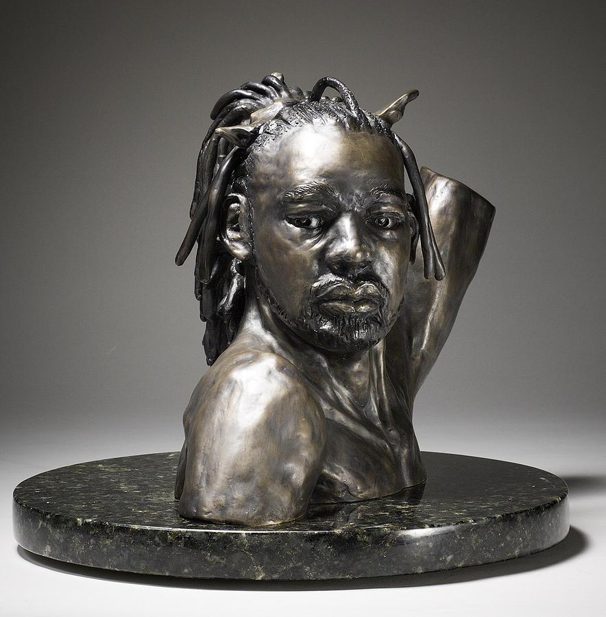 Portrait Sculpture - Danseur Royal by Eduardo Gomez
