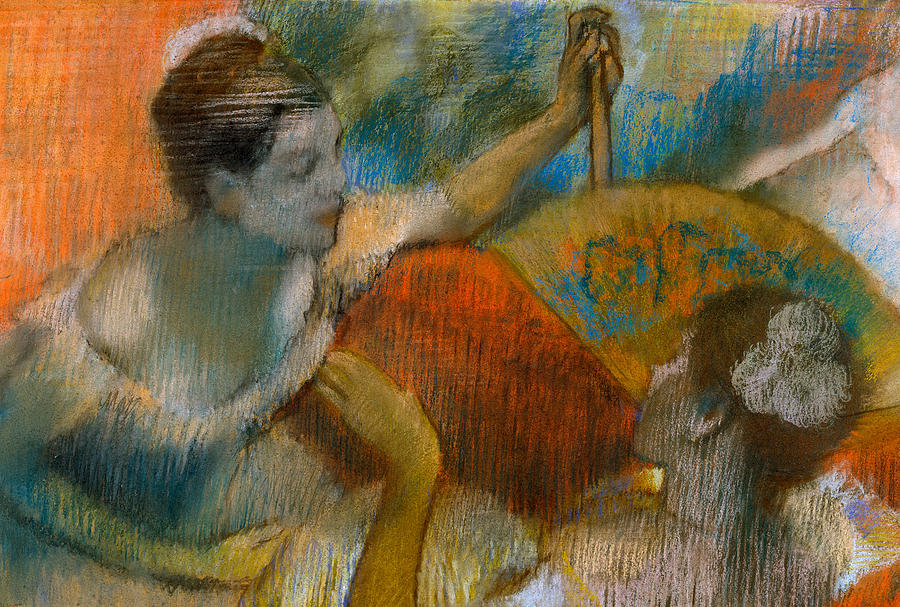 Dancer Painting - Danseuse A Leventail by Edgar Degas
