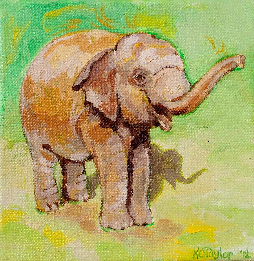 Elephant Painting - Dante Green by Kathleen Taylor