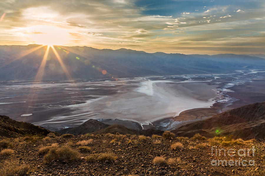 Dante U0026 39 S View Of Death Valley 3 Sunset Photograph By Dan