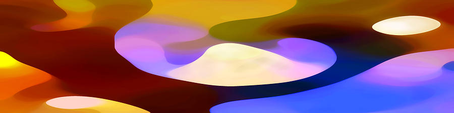 Bold Painting - Dappled Light Panoramic 4 by Amy Vangsgard