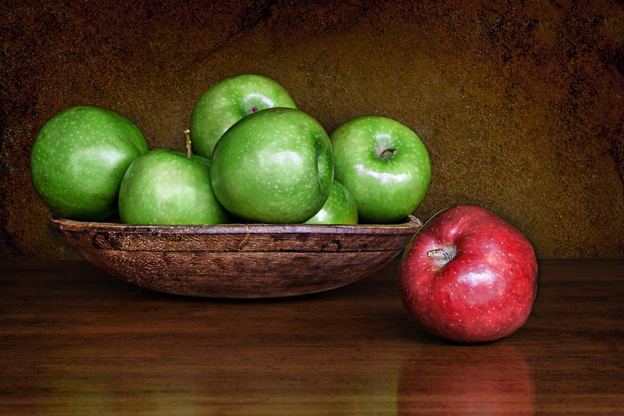 Apples Photograph - Dare To Be Different 3 by Nikolyn McDonald