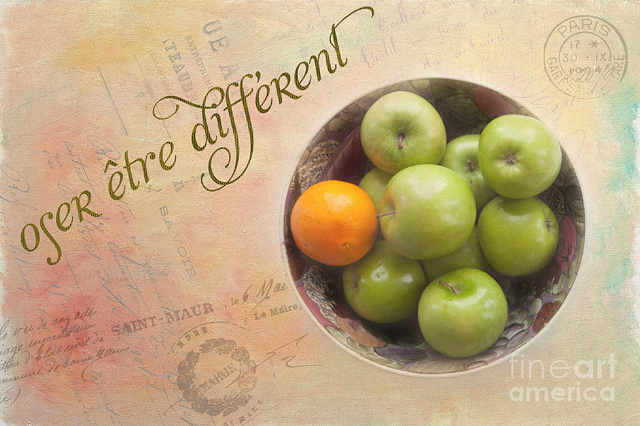 Kitchen Photograph - Dare To Be Different by Kay Pickens