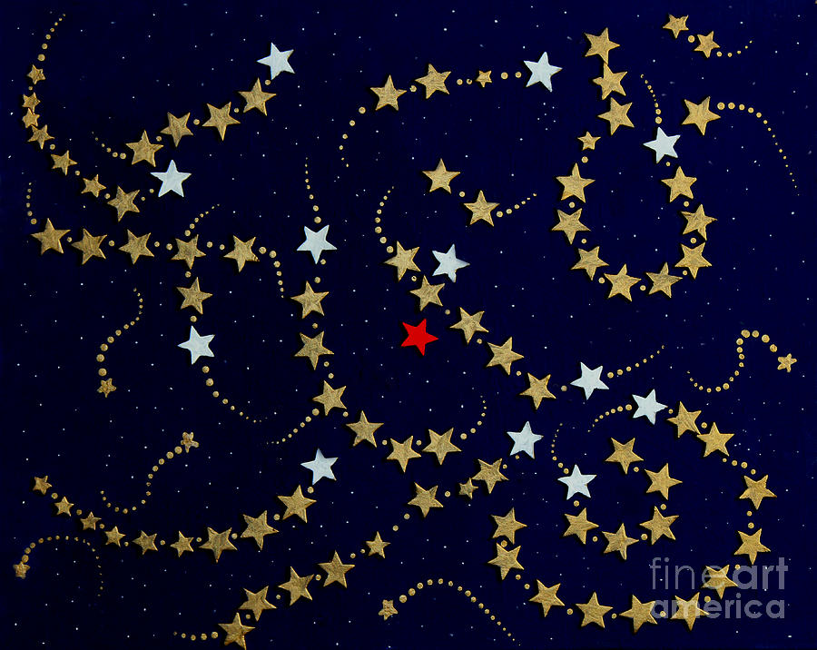 Barbara Griffin Painting - Dare To Be Different - Stars - Blazing Trails by Barbara Griffin