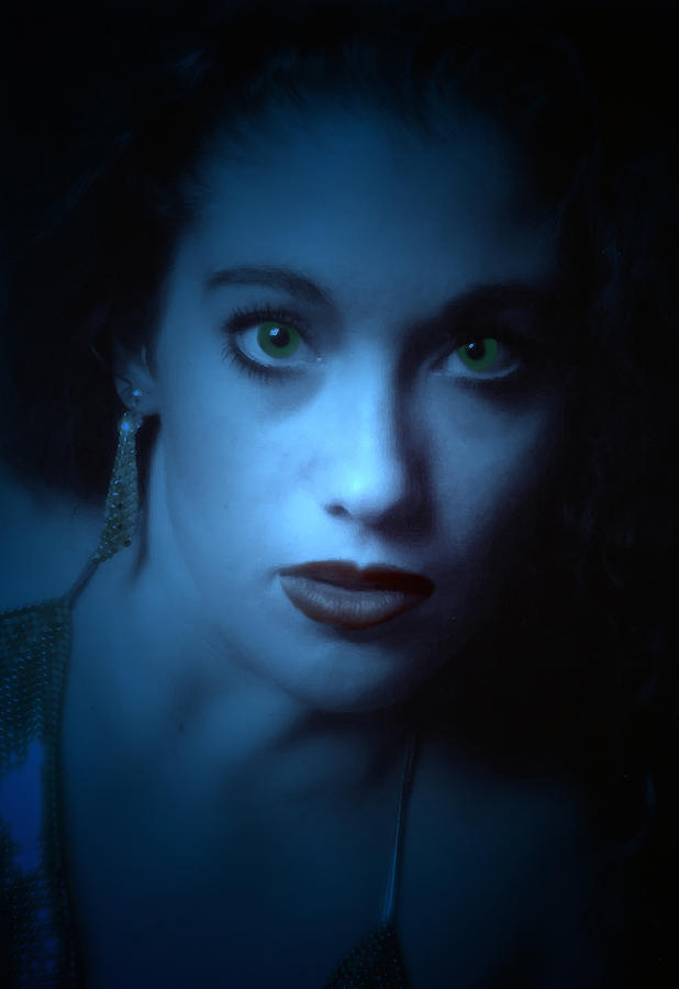 Portrait Photograph - Dark And Mysterious  by Teri Schuster