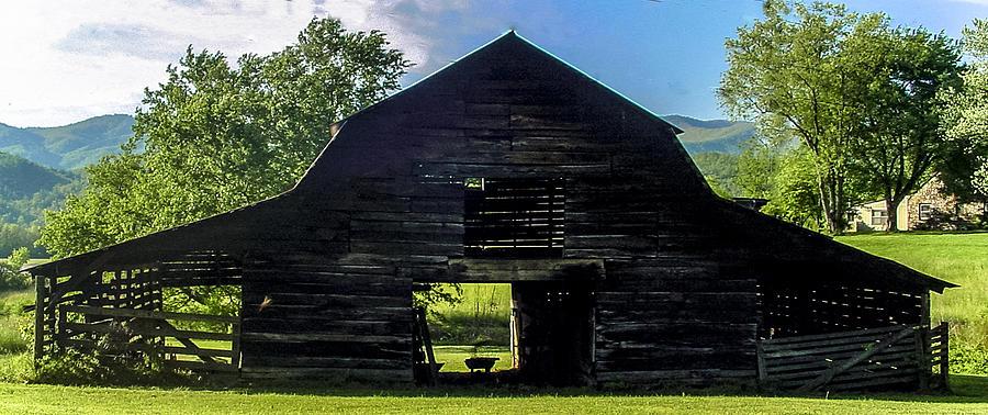 White Photograph - Dark Barn by Robert J Andler