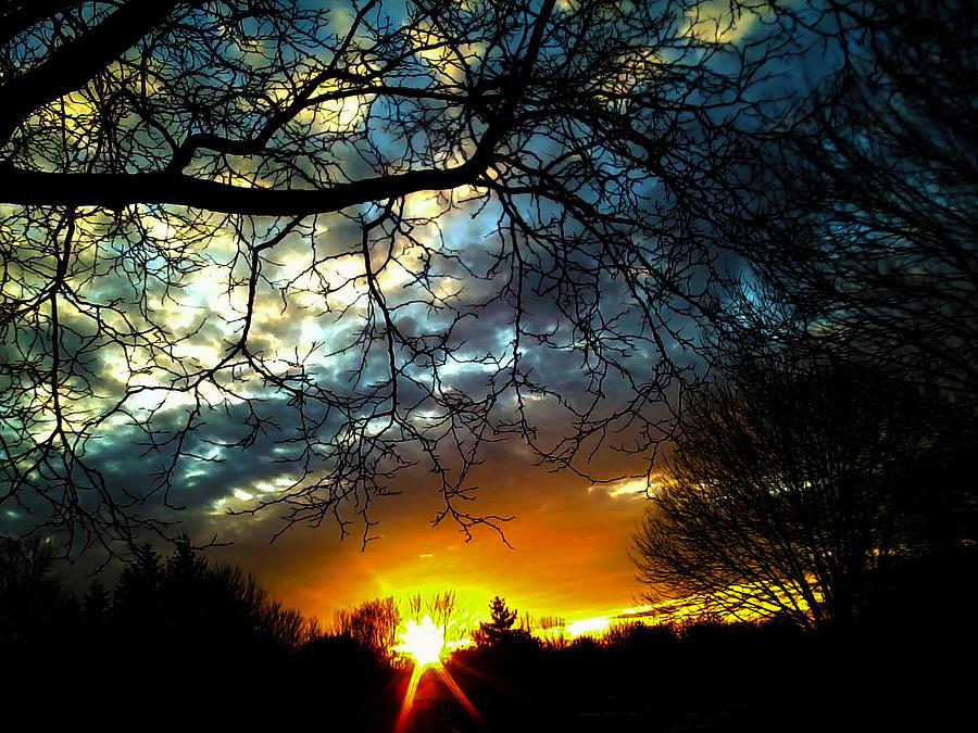 Sunset Photograph - Dark Beauty Sunset by James Hammen