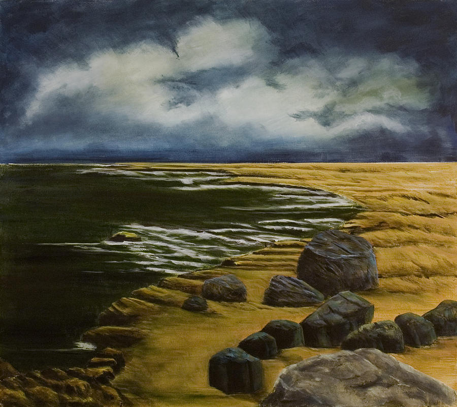 Seascape Painting - Dark Before Light by Susan Culver