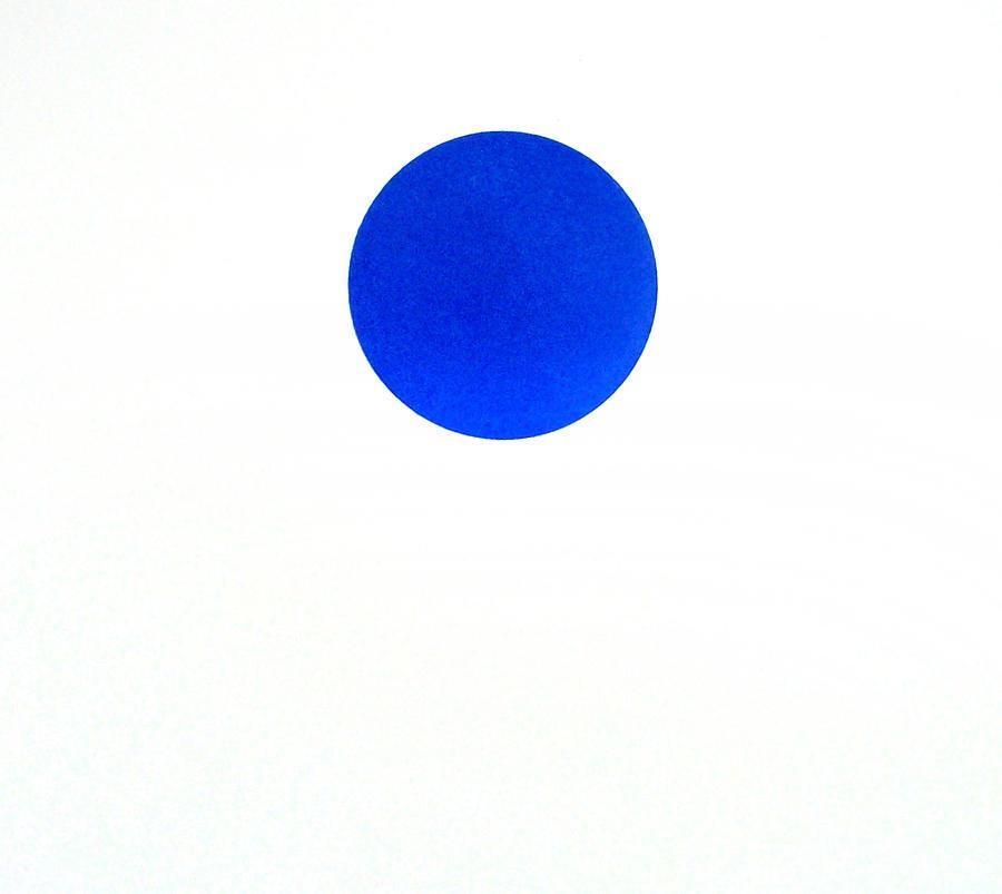 Dark Blue Dot Painting By Scott Shaver