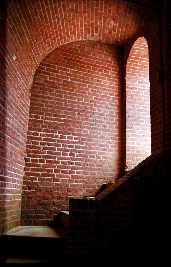 Alcove Photograph - Dark Brick Passageway by Frank Romeo