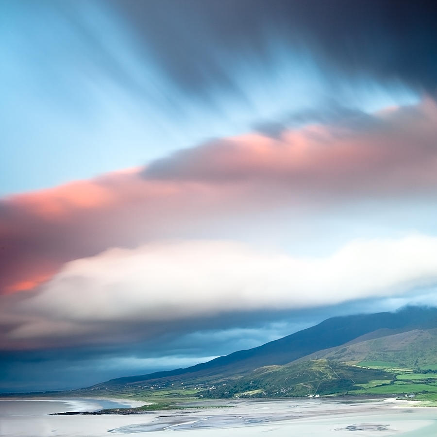 Dingle Photograph - dark clouds over Irish coast Dingle peninsula by Dirk Ercken