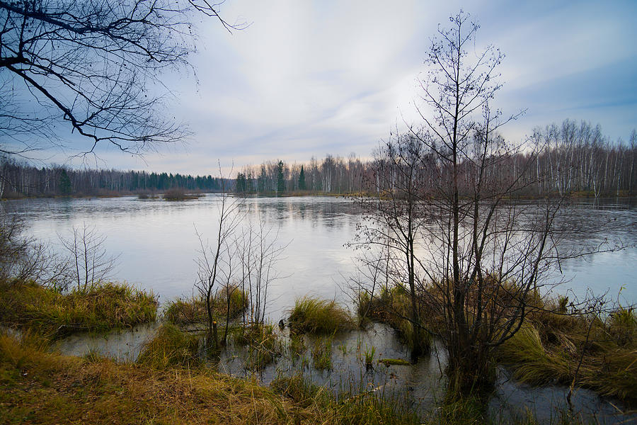 Dark Early Winter Landscape With Great Photograph by Alexkotlov