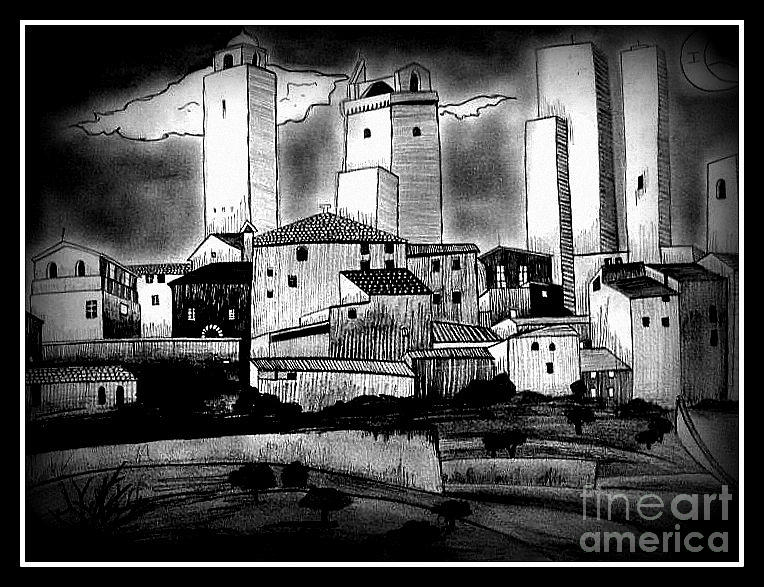 Town Photograph - Dark Effect by Mylene Le Bouthillier