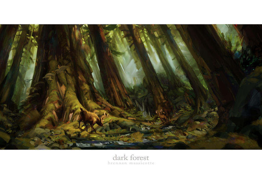 Dark Forest Painting by Brennan Massicotte