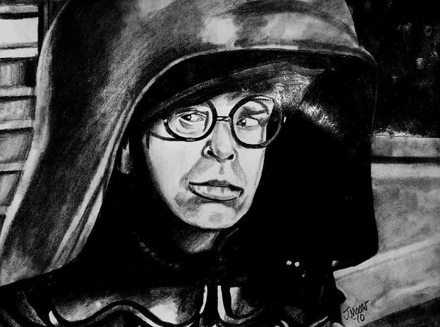 Dark Helmet Rick Moranis Spaceballs Mel Brooks Star Wars Jedi Sith Outer Space Scifi Fantasy Comedy Movie Actor Celebrity Drawing - Dark Helmet by Jeremy Moore
