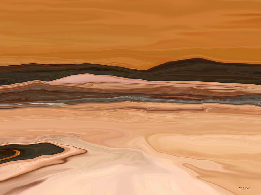 Abstract Painting - Dark Hills by Tim Stringer