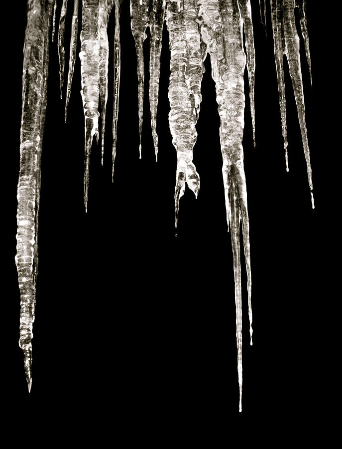 Icicle Photograph - Dark Ice by Azthet Photography