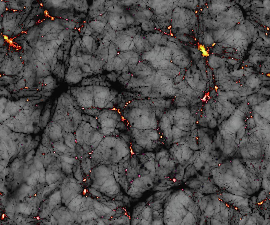 Artwork Photograph - Dark Matter by Mark Garlick/science Photo Library