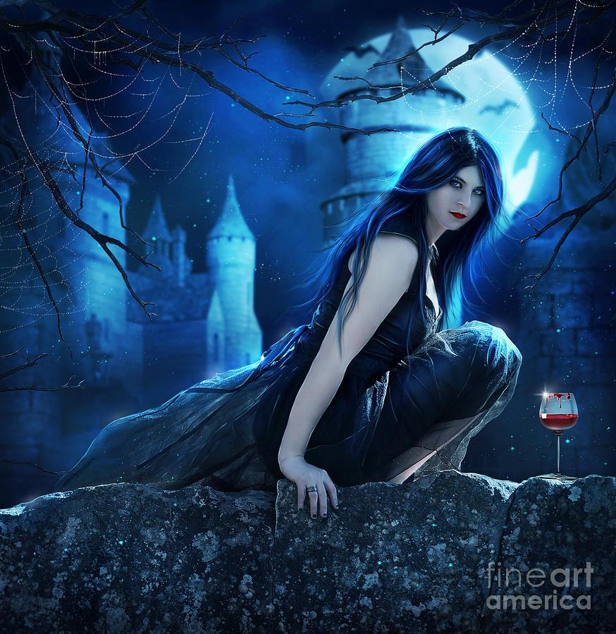 Dark Moon Digital Art by Jessica Allain
