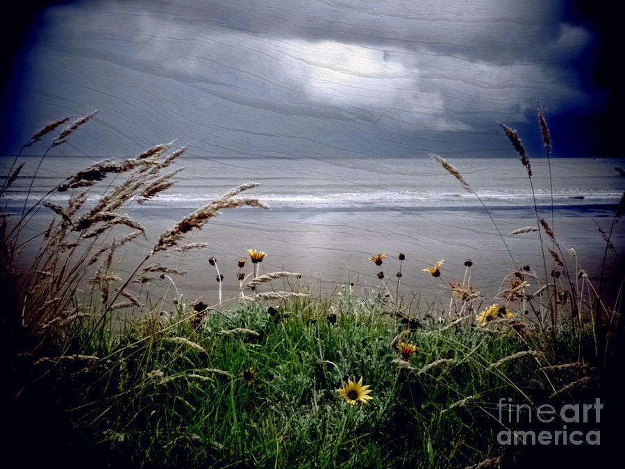 Beach Photograph - Dark Outlook by Karen Lewis