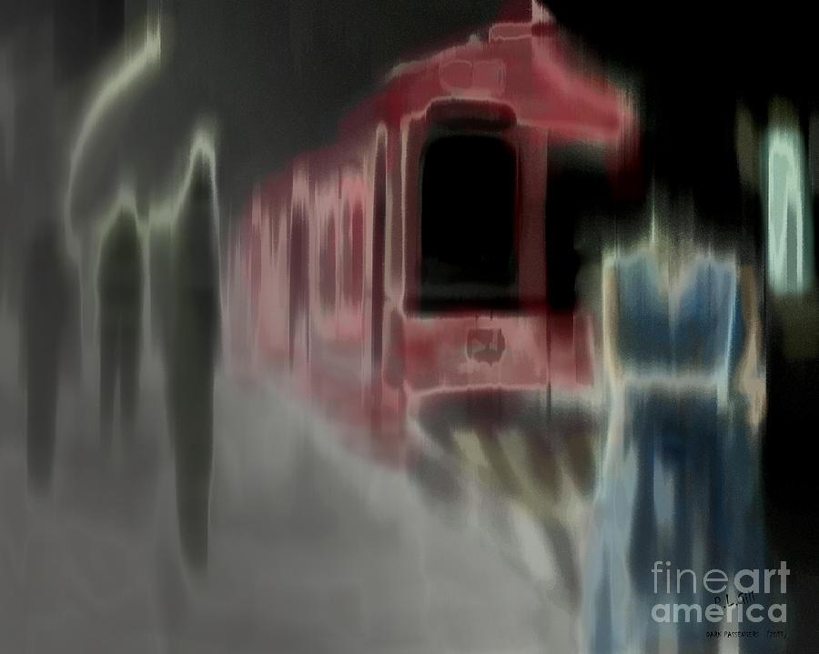 Train Digital Art - Dark Passengers by Pedro L Gili