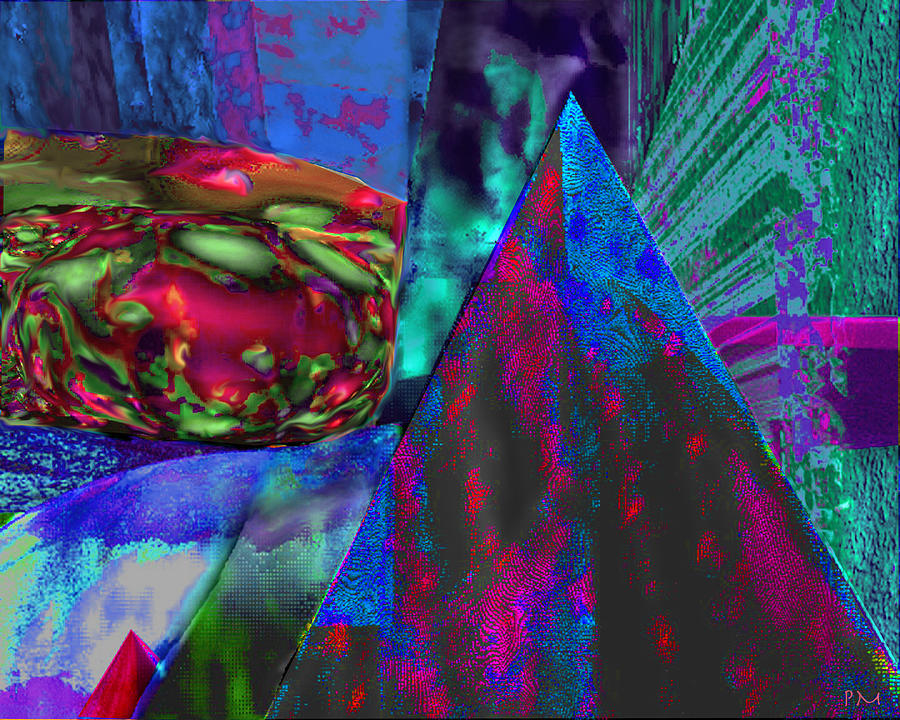 Dark Pyramid Digital Art by Phillip Mossbarger