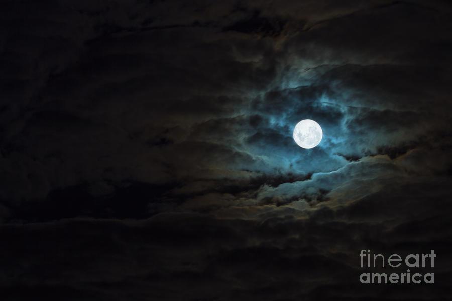 Moon Photograph - Dark Rising by Andrew Paranavitana