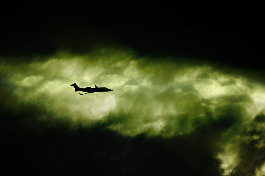 Learjet Photograph - Dark Shadow  by Paul Job