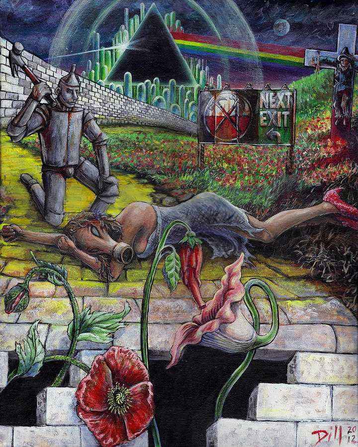 Dark Side of Oz Painting by Rust Dill