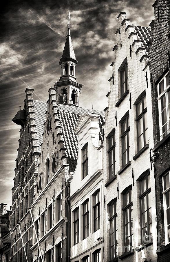 Dark Sky Photograph - Dark Sky In Bruges by John Rizzuto