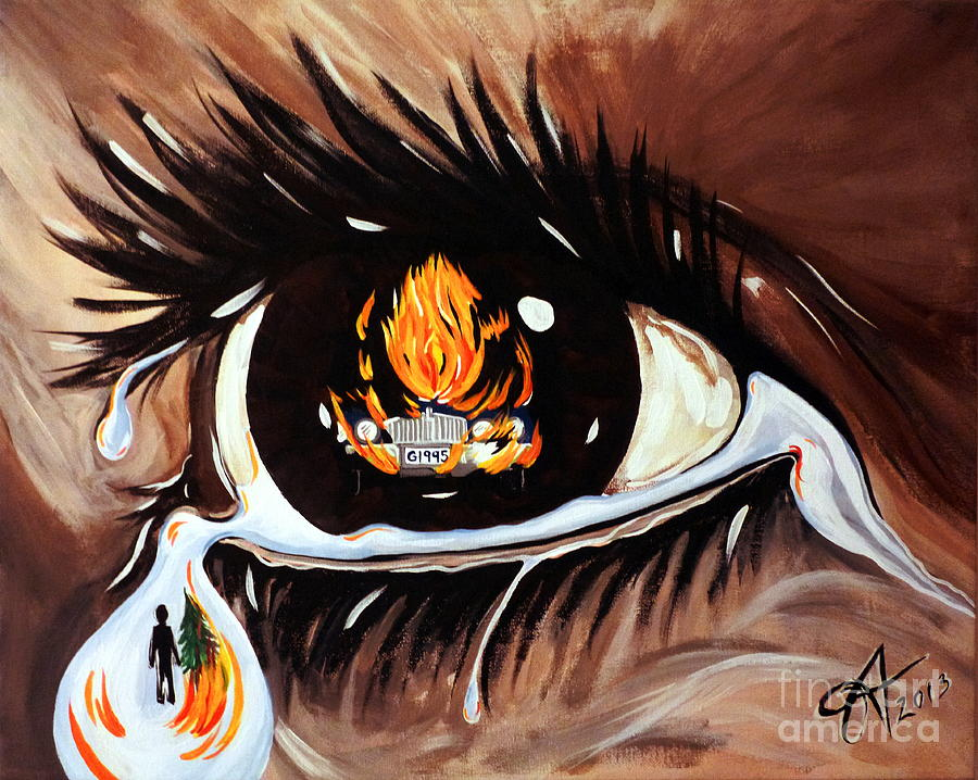 Eye Painting - Dark Sorrow  by Jackie Carpenter