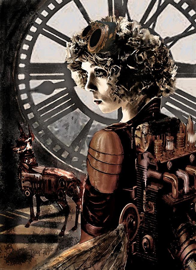 Steampunk Digital Art - Dark Steampunk by Jane Schnetlage