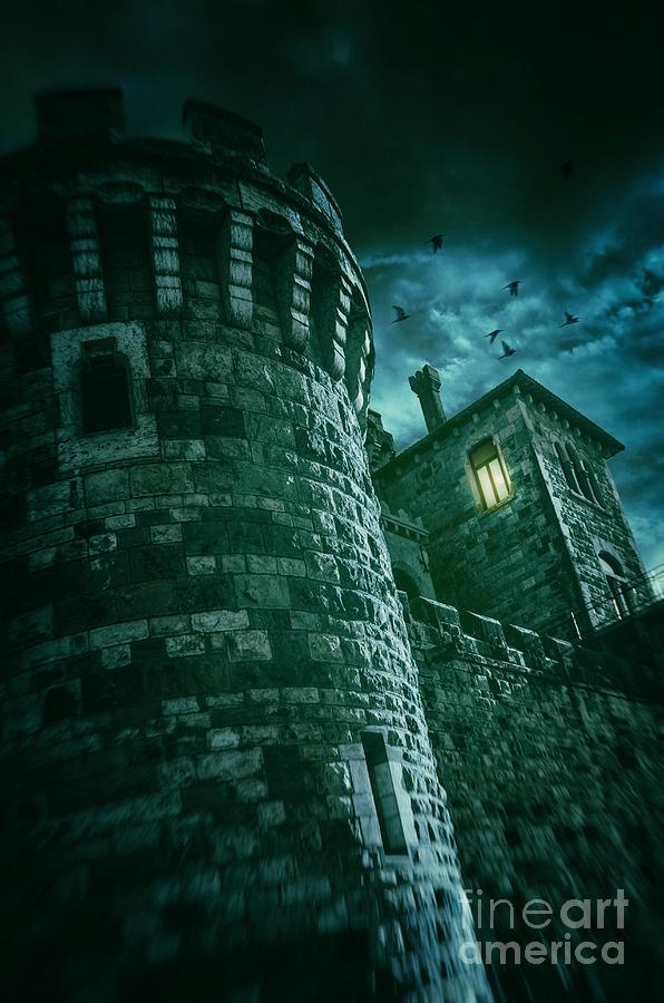 Castle Photograph - Dark Tower by Carlos Caetano