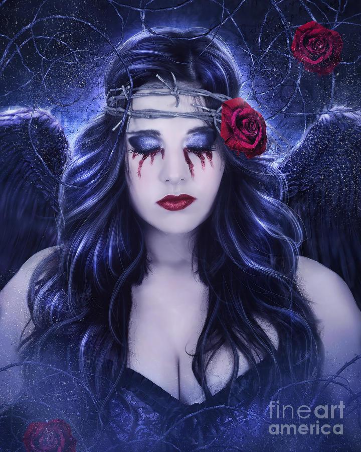 Dark Wings Digital Art by Jessica Allain