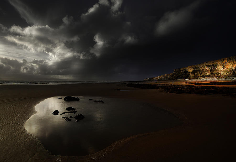 Darkness At Traeth Mawr Photograph by Unique Landscape Images