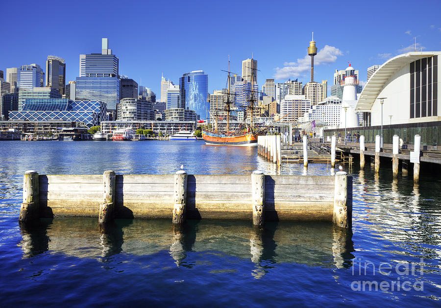Australia Photograph - Darling Harbour Sydney Australia by Colin and Linda McKie