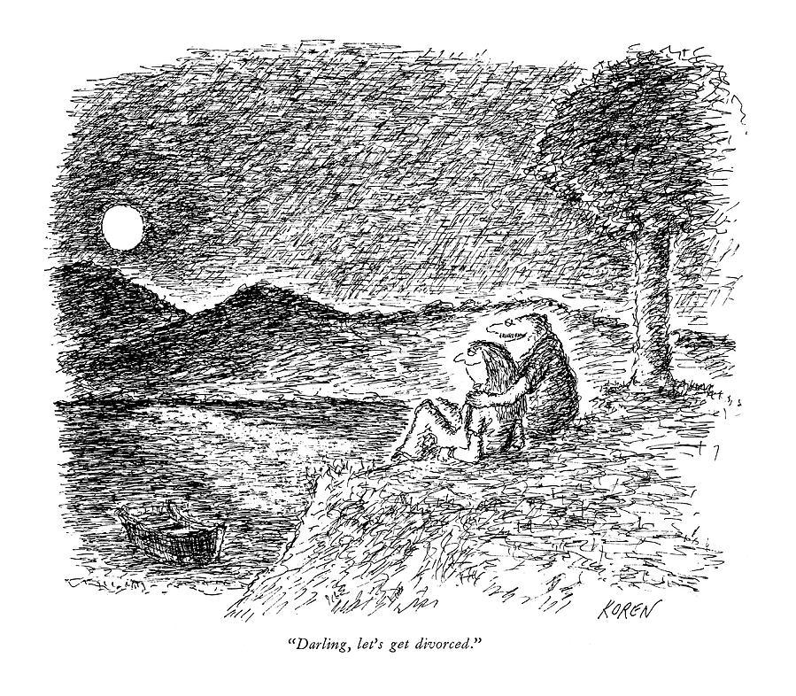 Darling, Lets Get Divorced Drawing by Edward Koren
