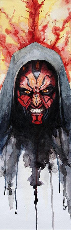 Star Wars Painting - Darth Maul by David Kraig
