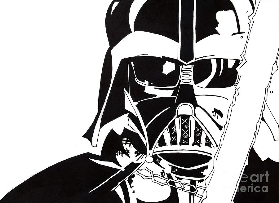 Darth Vader Drawing by Gabrielle Aguilar