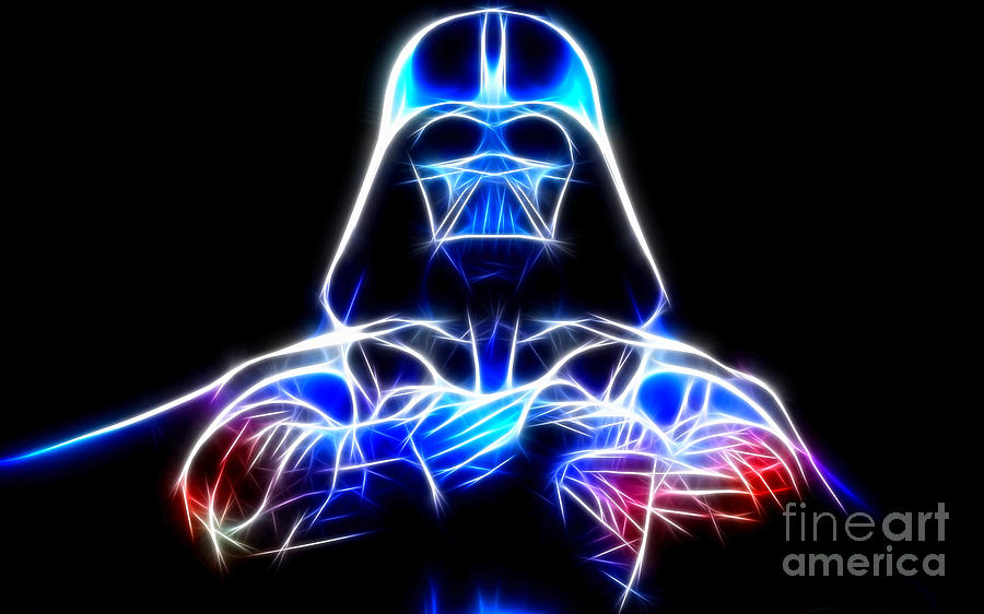Darth Vader Mixed Media - Darth Vader - The Force Be With You by Pamela Johnson