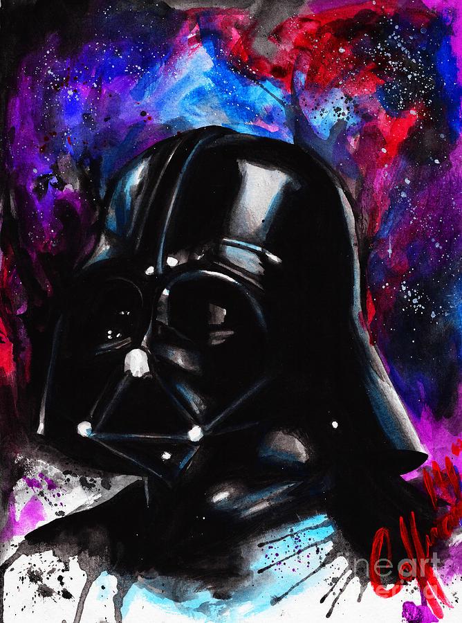 Darth Vader Watercolor Painting by Justin Coffman