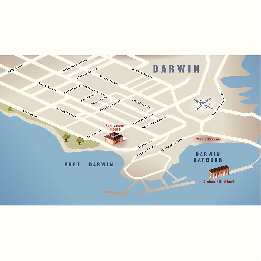 Australia Map Darwin.Darwin Nt Australia Map By Russelltatedotcom
