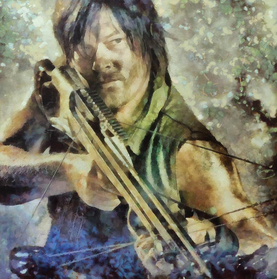 Norman Reedus Painting - Dary Dixon 8 by Janice MacLellan