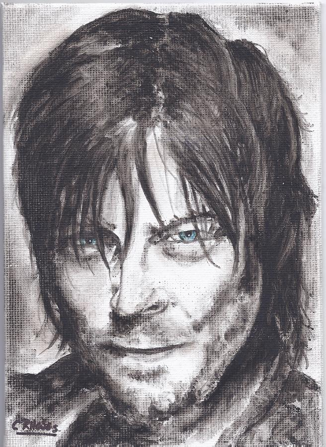 Daryl Dixon Painting By Casey Rhodes
