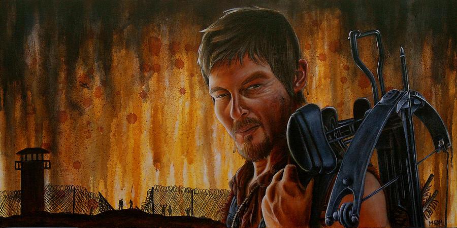 Daryl Painting - Daryl by Marlon Huynh