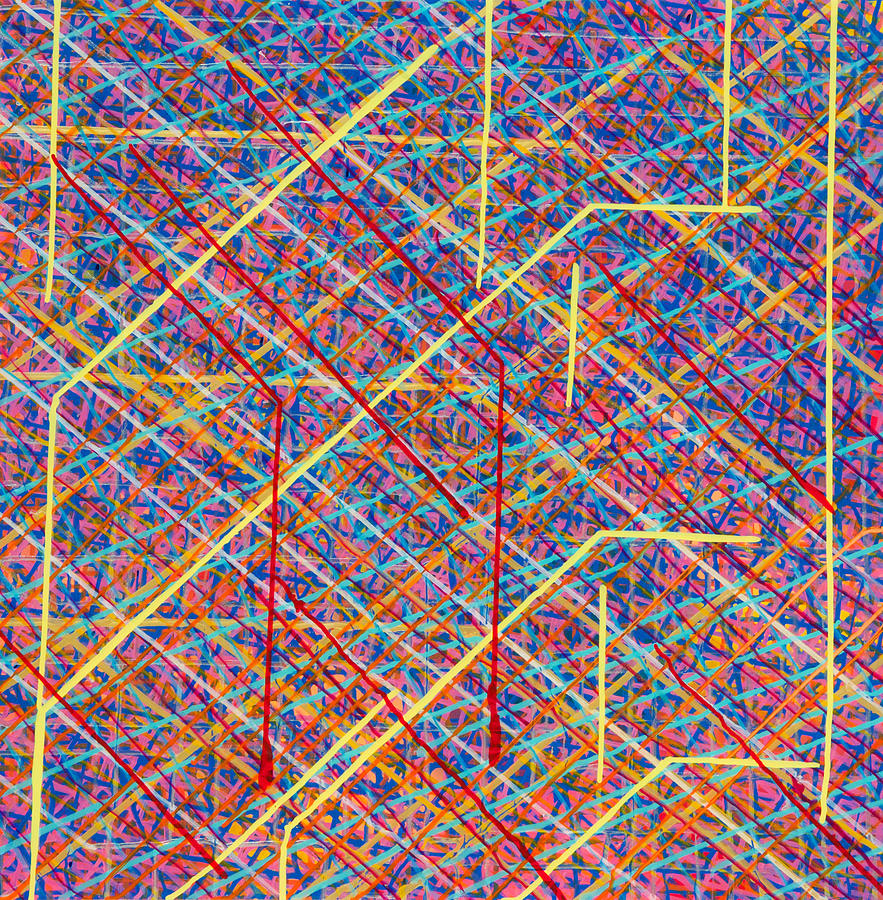 Acrylic Painting - Data Structure by Patrick OLeary