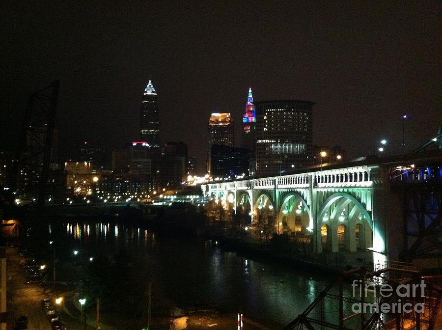 Downtown Photograph - Date Night In Cleveland - From His Window by LCS Art