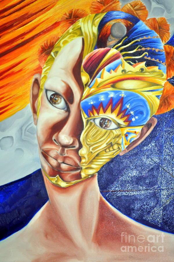Daughter Of Enterprise-mask Series 4 Painting