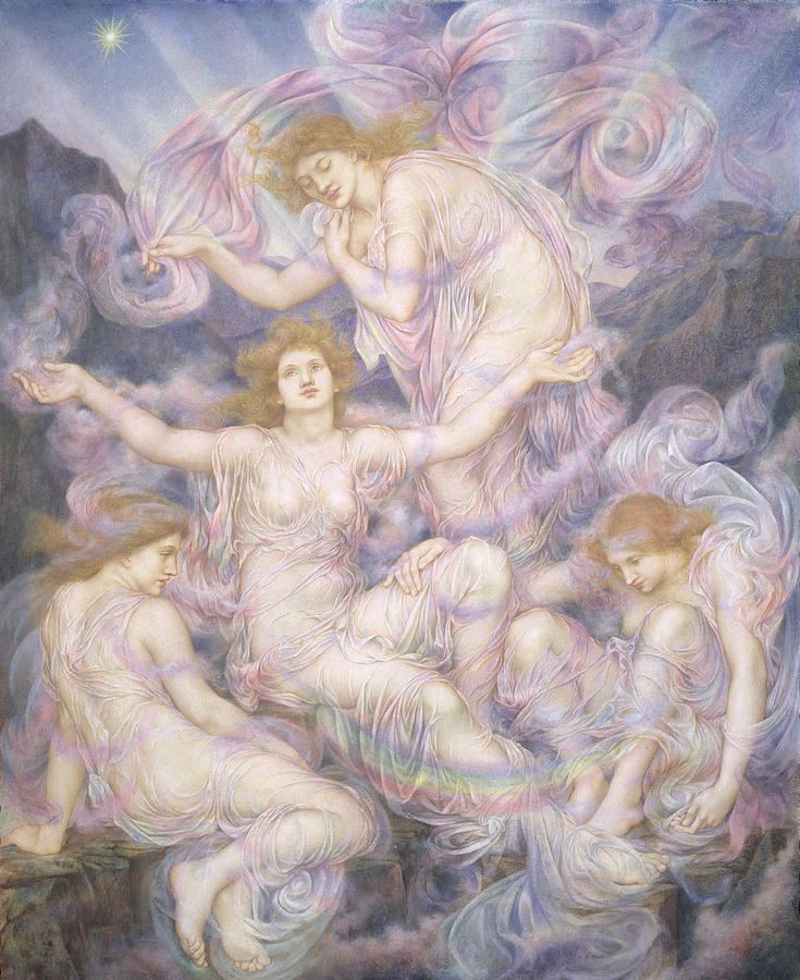 William Painting - Daughters Of The Mist by Evelyn De Morgan