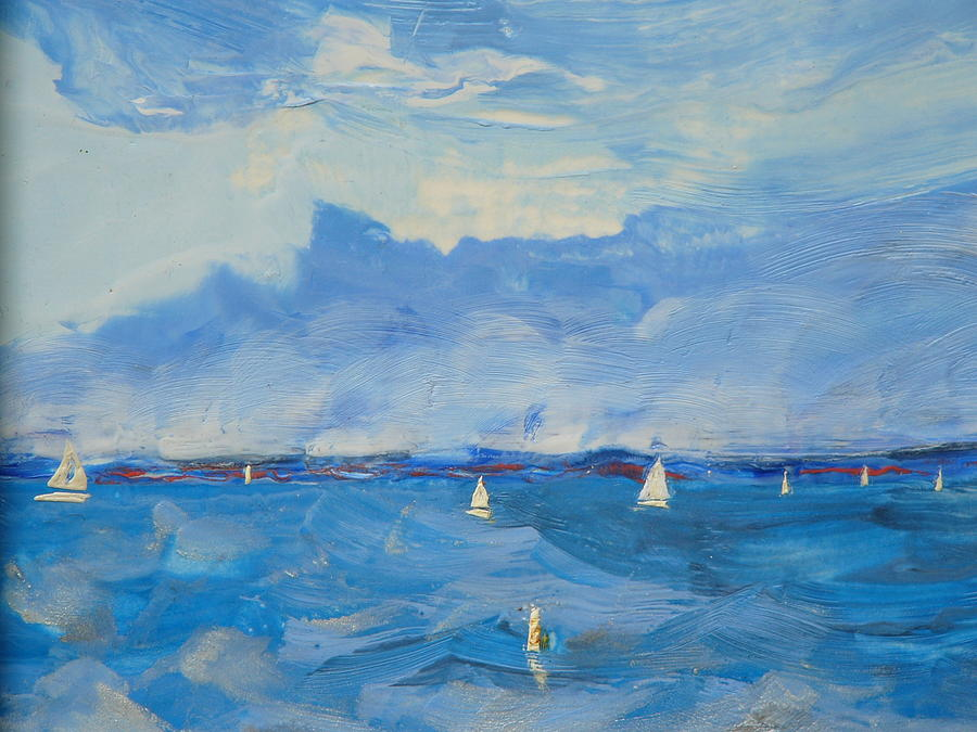 Sea Painting - Great Day by Valerie Lynch